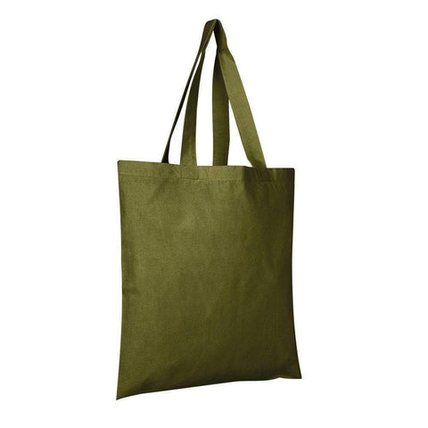 100% Cotton Tote Bags Wholesale - Alternative Colors - Set of 12 Tote Bags