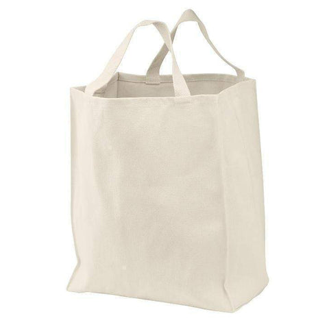 100% Cotton Twill Grocery Tote - Set of 6 Tote Bags