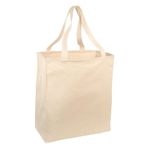 100% Cotton Twill Over-the-Shoulder Grocery Tote - Set of 6 Tote Bags