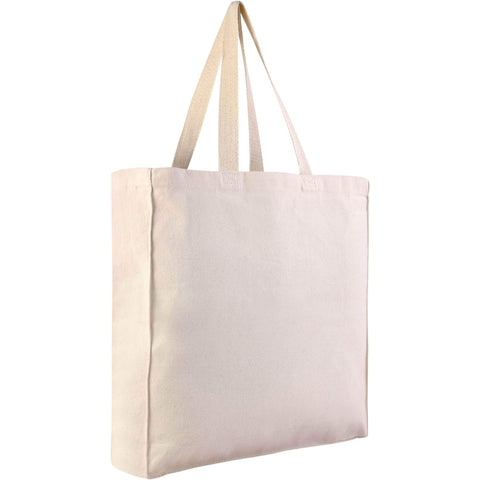 Heavy Canvas Shopping Tote Bag Bulk w/ Side and Bottom Gusset - TF230 Tote Bags
