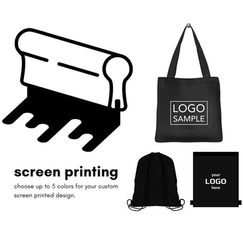 Screen Print Services - Put your Logo on any Tote Bags & Drawstring Bags