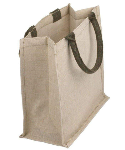 Jute Cotton Blend Cute Burlap Bags with Soft Cotton Handles - B890
