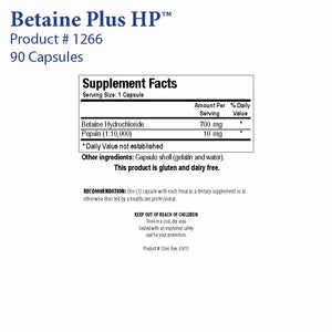 Betaine Plus HP by Biotics Research - Gluten Free