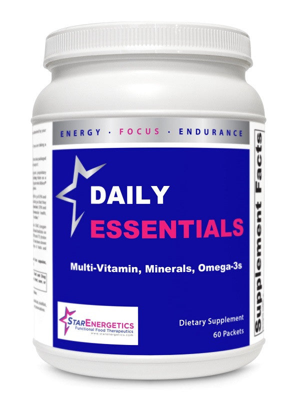 Daily Essentials 60 packets, Vitamins, Chelated Minerals, Fish Oil, Gluten Free