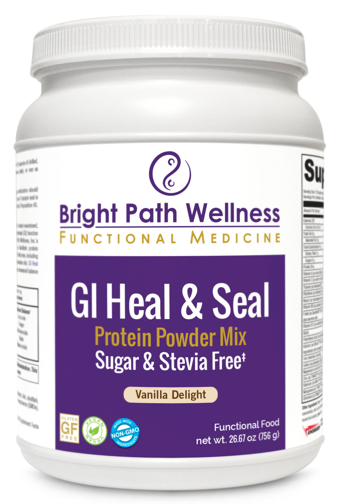 GI Heal and Seal Protein Powder Mix - SUGAR FREE, STEVIA FREE, Non GMO, Gluten Free, Vegan, Cleanse, Detox, Nutritious