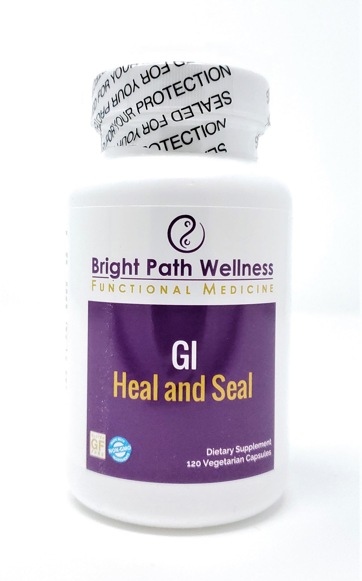 GI Heal and Seal - 120 Caps - Pantothenic Acid, Zinc, Inulin, L-Glutamine, Aloe Vera 200:1 Aqueous Extract