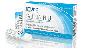 Guna-Flu - Homeopathic Medicine - 6 monodose vials of mini pellets