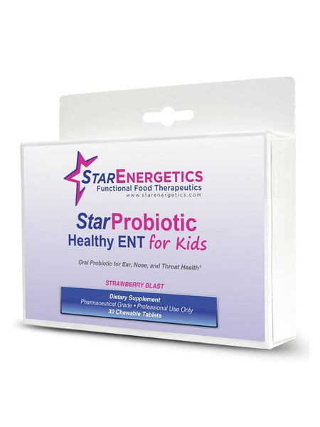 Probiotic Healthy ENT for Kids 30 Chewable Tablets, Vegan, Non GMO, Gluten Free