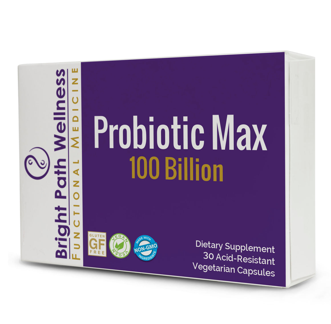 Probiotic Max 100 Billion - 30 capsules, Vegan, Non GMO, Gluten Free