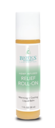 Hemp Infused Relief Roll-On  by Biotics Research - Gluten Free