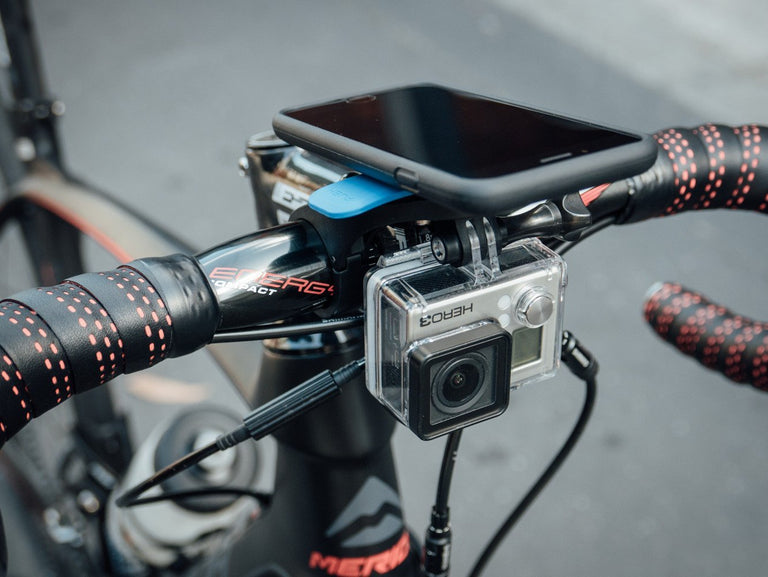 GoPro Mounted using Quad Lock on Road Bike
