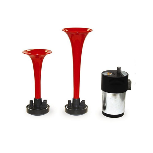 Air Horns Universal Dual Red  12 Volts HS 22.337