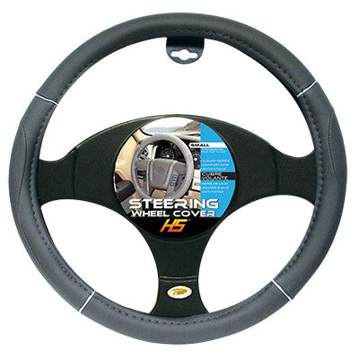 Steering Wheel Cover Grey / Chrome / Grey 13.5