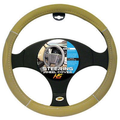 Steering Wheel Cover Tan / Chrome / Tan 13.5