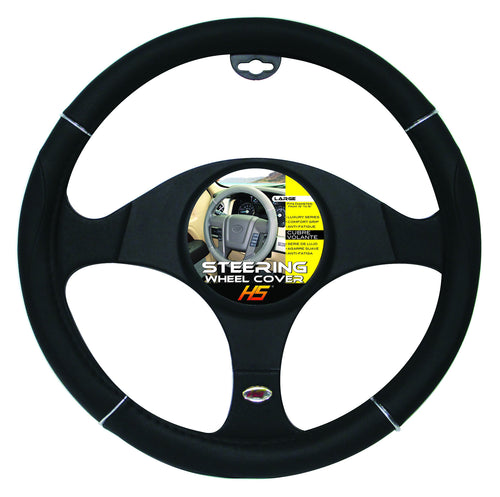 Steering Wheel Cover Black / Chrome / Black 15