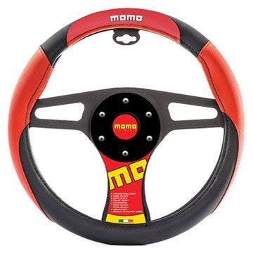 Momo Steering Wheel Cover Red/Black/Red