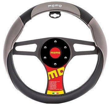 Momo Steering Wheel Cover Grey/Black/White