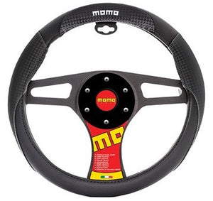 Momo Steering Wheel Cover Carbon/Black/White