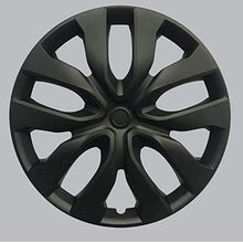 "Load image into Gallery viewer, HS 45.585 SET OF 4 PCS 15"" Hub Caps Full Wheel Covers Rim Cap Lug Cover Hubs Matte Black"