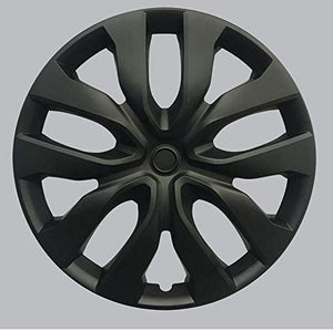 "HS 45.585 SET OF 4 PCS 15"" Hub Caps Full Wheel Covers Rim Cap Lug Cover Hubs Matte Black"