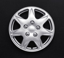 "Load image into Gallery viewer, Set Of 4 13"" Silver Lacquer Wheel Covers"