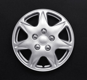 "Set Of 4 13"" Silver Lacquer Wheel Covers"
