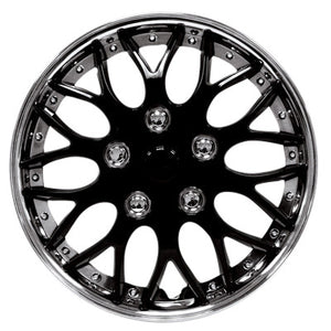 "Set Of 4 Black / Chrome 16"" Inch Wheel Covers"