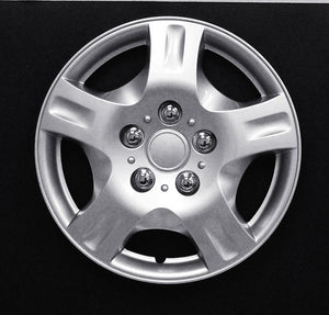 "Set Of 4 15"" Silver Lacquer Wheel Covers"