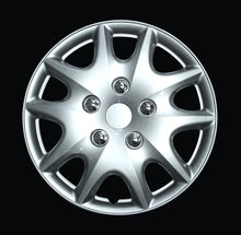 "Load image into Gallery viewer, HS 45.578 Set Of 4 15"" Silver Lacquer Wheel Covers"