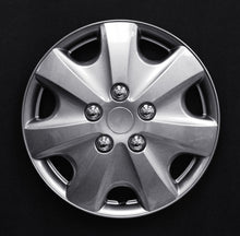"Load image into Gallery viewer, HS 45.562 Set Of 4 15"" Silver Lacquer Wheel Covers"
