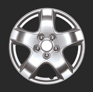 "HS 45.572 Set Of 4 15"" Silver Lacquer Wheel Covers"