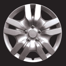 "Load image into Gallery viewer, HS 45.691 Set Of 4 16"" Silver Lacquer Wheel Covers Hub Caps"