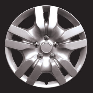 "HS 45.691 Set Of 4 16"" Silver Lacquer Wheel Covers Hub Caps"