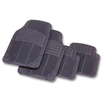 Floor Mats All Weather Rubber 4 Piece Smoke 47.408