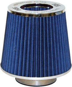"3""  Air Filter Tornado Style Chrome/Blue Intake Filter 63.SF200BE"