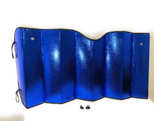 "Load image into Gallery viewer, Sunshades PME 10.110 Blue / Silver Backing  24"" X 58"""