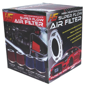 Air Filter Tornado Style Super Flow Chrome /Red intake Filter 63.SF200