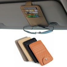 Load image into Gallery viewer, Car Sun Visor Bill Pen Business Card Holder