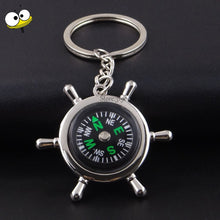Load image into Gallery viewer, Gift Rudder Compass Keychain Auto Car Key Ring Key Holder Car Accessories for Honda Hyundai Nissan Audi BMW Ford VW Subaru Dodge