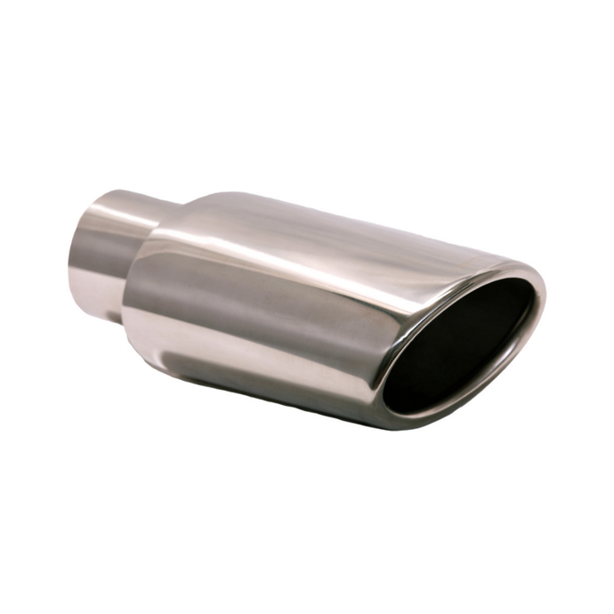 Exhaust Muffler Tip Rolled Edge Oval Slant Cut Tip 4 3/4
