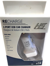 Load image into Gallery viewer, Recharge 2-Port USB Car Charger HS 08.008