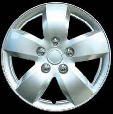 "Set Of 4 15"" Silver Lacquer Wheel Covers Hub Caps"