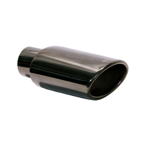 Wide Oval Rolled Edge Black Chrome Tip