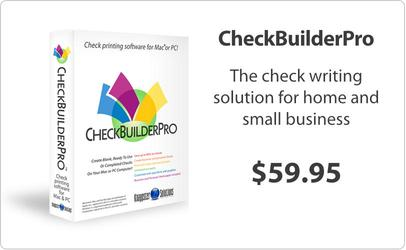 CheckBuilderPro - Check Printing Software For Macintosh