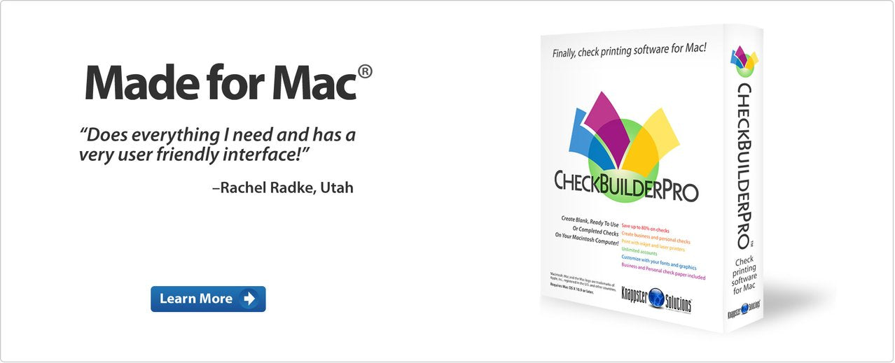 check printing software for Mac