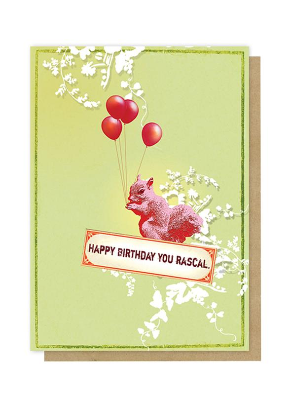 Greeting Card - Birthday Squirrel