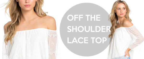 Casual Off Shoulder Lace Top