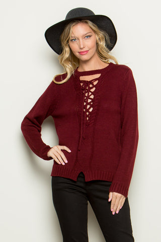 Two Toned Knit Sweater