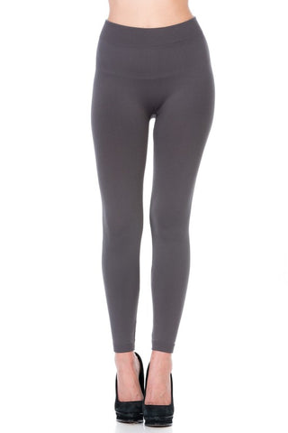 Basic Solid Fleece Legging Skinny