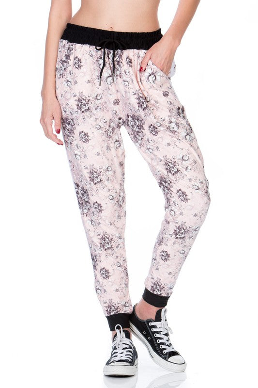 Multi Floral Print Relax Fit Jogger